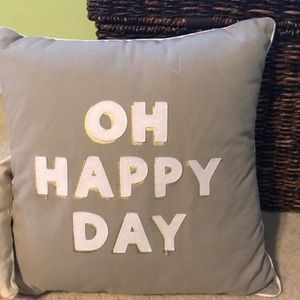 Oh Happy Day pillow